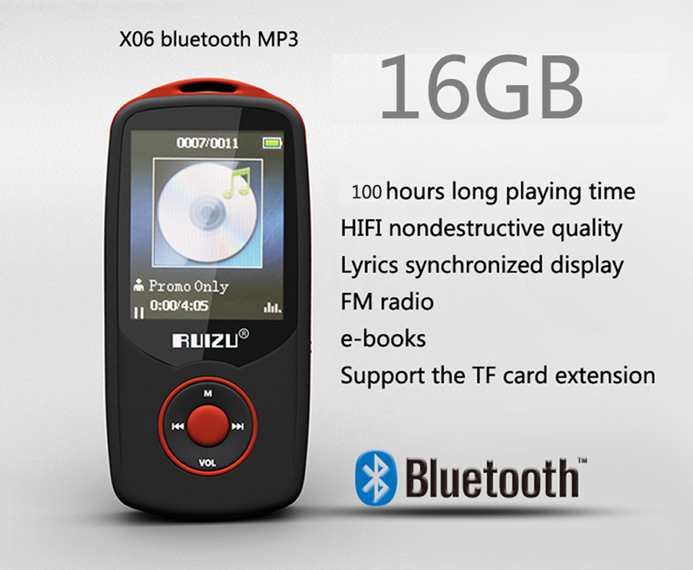 2015 New Original RUIZU X06 Bluetooth Sports MP3 music ...