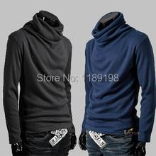 Big Size Men's Turtleneck Sweater men Super Cool Rotation Collar Cardigan Mens Ultrathin BaseShirt Mens Pullovers(China (Mainland))