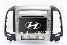 "7"" 2-Din In Dash Car DVD Player GPS Navigation for Hyundai Santa Fe 2006-2012 with Bluetooth TV USB Auto Radio Audio Multimedia()"