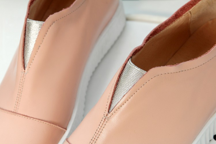 2015 Fashion Black / white / pink Women Full Grain Leather Spring ladies Mixed Colors Pointed Toe shoes for women