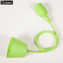 Colorful Silicone Pendant Lights E27 Holder AC90-260V Modern Fashion DIY Design Creative Pendant Lamps 100cm Cord Ceiling Base(China (Mainland))