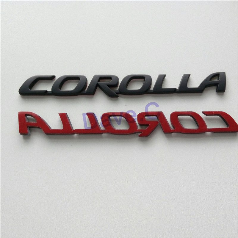 buy car for toyota corolla new styling rear trunk custom emblem abs 3d letter. Black Bedroom Furniture Sets. Home Design Ideas