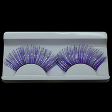 1 Best Selling Purple False Eyelashes for Sexy Lady Lengthening of Eye Exaggerated Birthday Decoration