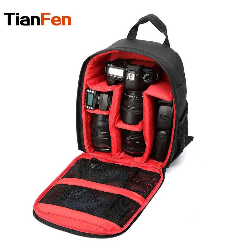 Camera Bag Waterproof Multi-functional Digital Camera Backpack Video Bag For Photographer Black With Green, Orange, Red<br><br>Aliexpress
