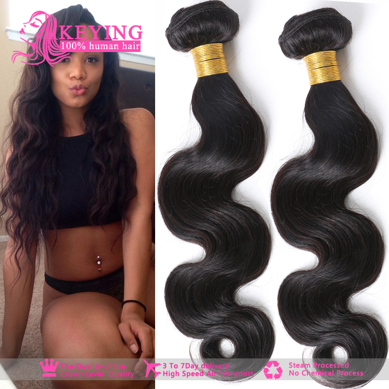 3 Bundles of Brazilian Virgin Hair Body Wave Grade 6A Unprocessed Brazilian Human Hair Weave Brazilian Body Wave Wavy Hair(China (Mainland))
