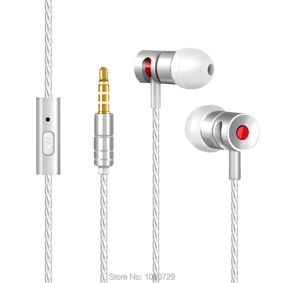2016 Hifi Stereo Ear Earphone Headphone Wire 3.5mm jack mic Headset for Sport Apple iPhone 5 6 Samsung SONY HTC Phone Earphones<br><br>Aliexpress
