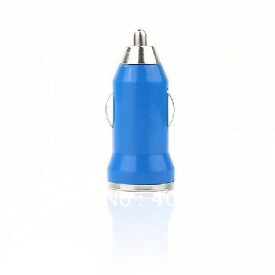 901745-CP-JRD007 10 pcs Mini Car Charger Adaptor for iPhone 3G 3GS 4G Blue color free shipping