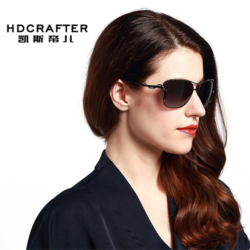 2017 women's star style Polarized Sunglasses elegant femininity sunglasses UV400 Alloy classic shades sunglasses HOT(China (Mainland))