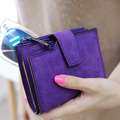 Solid Vintage Matte Women Wallet Fashion Small Female Purse Floral Carteras Mujer Femininas short wallet purse