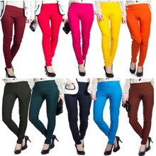 New Summer 2015 Solid Candy Cotton Leggings For Women High Stretched Sports Leggins Pants Fitness Clothing Legging Plus Size(China (Mainland))