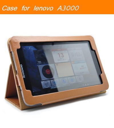 Case for lenovo A3000 Wholesales Special leather cases cover with stand for 7 inch Lenovo A3000 tablet pc(China (Mainland))