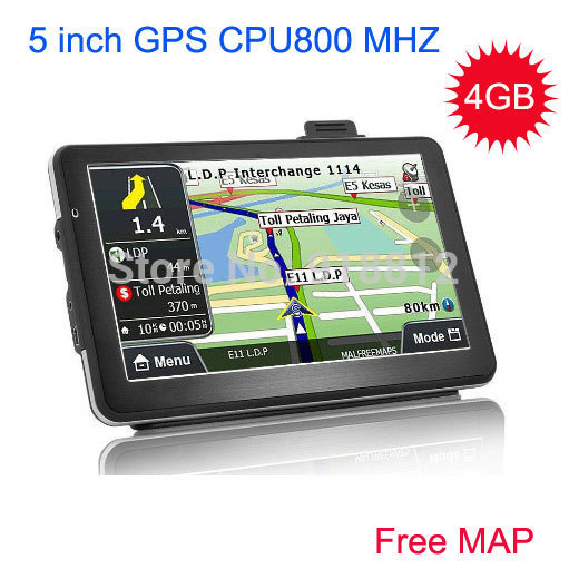 2014 new 5 inch Car GPS Navigator FM/4GB/DDR128M best gps for Navitel Russia/Belarus/europe/South american map Israel WINCE 6.0(China (Mainland))