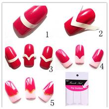 240 PCS Manicure francês do prego Art decorações dicas Nails Sticker Art Form Fringe guias etiqueta DIY francês Manicure