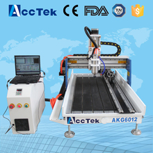Acctek hot sale cnc cylinder engraving machine 6012/cnc wood engraving tools 6090