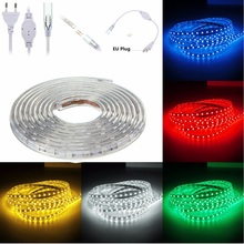 Buy 1 Set 6M Waterproof IP67 SMD LED Strip Light 5050 220V 60 LEDs/M Flexible Tape Rope Light EU plug for $14.76 in AliExpress store