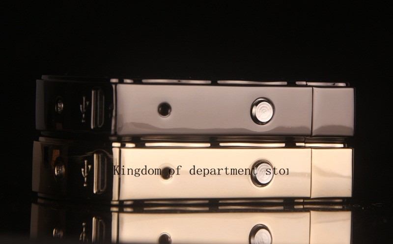 ถูก Windproofโลหะบางเฉียบชีพจรชาร์จUsbบุหรี่อิเล็กทรอนิกส์เบาเบาแฟชั่นใหม่ไฟแช็Windproof