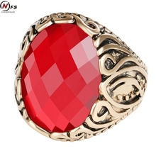 Buy NFS Charm Turkish Fashion Jewelry Inlay Red Crystal Resin Big Ring Plated Ancient Gold Vintage Exquisite Pattern Rings Women for $1.43 in AliExpress store