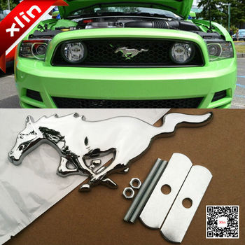 2015 High quality 3D Metal Mustang Running Horse car emblem logo Front Hood Grille badge Car styling