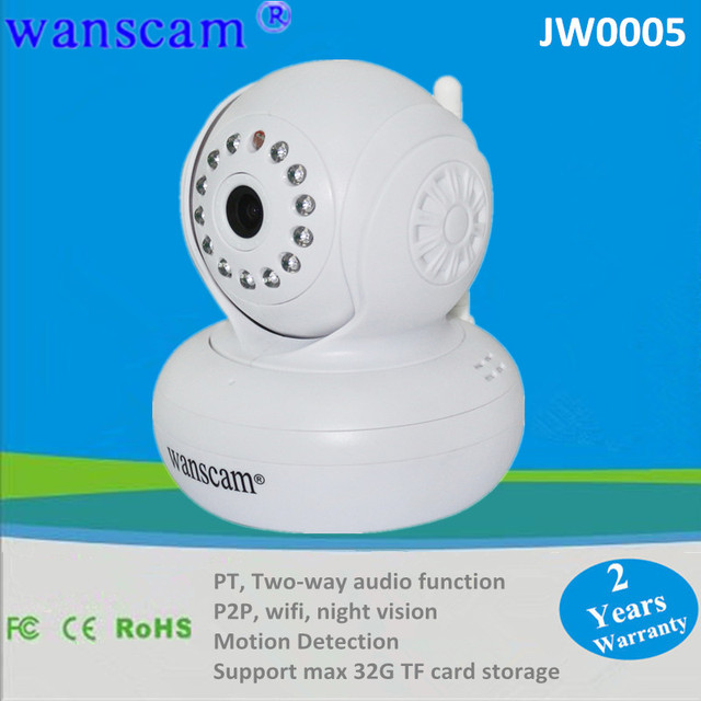 New 32G TF-Card SD Card WPA Wireless Wifi Baby Monitor Dual Audio P2P Home Security Surveillance White IP CCTV Camera Free DDNS