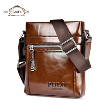 Polo Designer Brand Men's Cross body bags Vintage Style Oil Skin Leather shoulder Men Messenger Bag 2015 New Crossbody bags