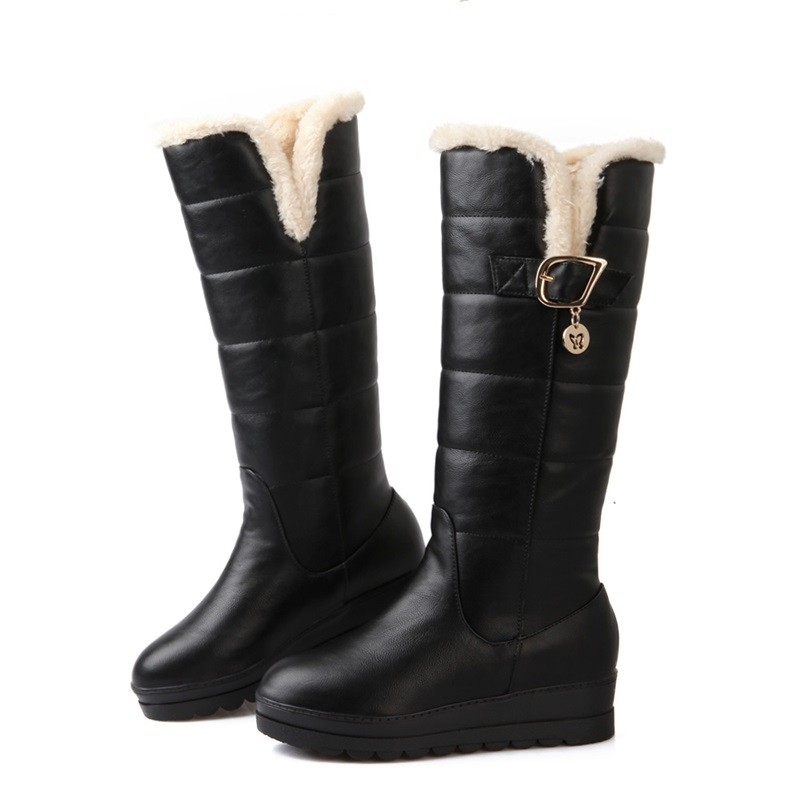 women's winter snow boots 2015 new arrive keep warm snow boots fashion thick fur platform waterproof shoes women size 34-39