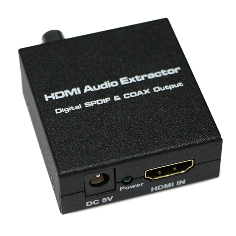 New HDMI to HDMI + SPDIF + RCA L / R Audio Extractor Converter (HDMI input,HDMI+ Audio output) Free Shipping<br><br>Aliexpress