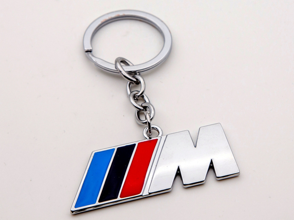 Blue Black Red Car Key Rings Fob Holder Car Logo Keychain
