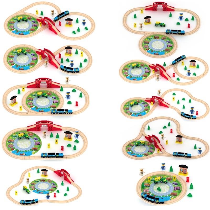 Best Bady educational wooden toys Lovely Tomas and Friends Wooden Railway Train Track slot set toy(China (Mainland))