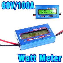 2015 Digital 60V/100A Balance Voltage RC Battery Power Analyzer Watt Meter Wattage Tester Amps Servo Test Program 0.01 Accuracy