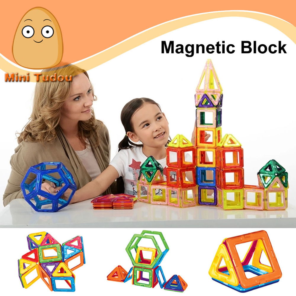 Minitudou Kids Toys Educational Magformers 32PCS Magnetic Toy 10PCS Triangle 16PCS Square 2PCS Hexagonal 3D DIY Building Blocks(China (Mainland))