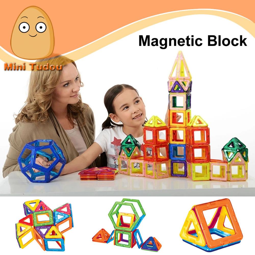 Minitudou Kids Toys Educational Magformers 32PCS Magnetic Toy 10PCS Triangle 16PCS Square 2PCS Hexagonal 3D DIY Building Blocks(China (Mainland))
