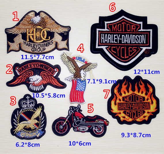 """Embroidery Iron On Patch """"HARLEY OWNERS GROUP"""" Badge Jacket patches(China (Mainland))"""