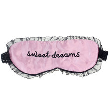Modern 22*11cm good sleep Sweet Dreams Pink Lace Brim Sleeping Eye Mask Blindfold Shade Sleep Aid Satin Eyemask  Aug19