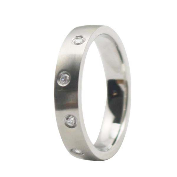 2015 New 316L stainless steel mechanical ring ladies cz wedding silver metal rings(China (Mainland))