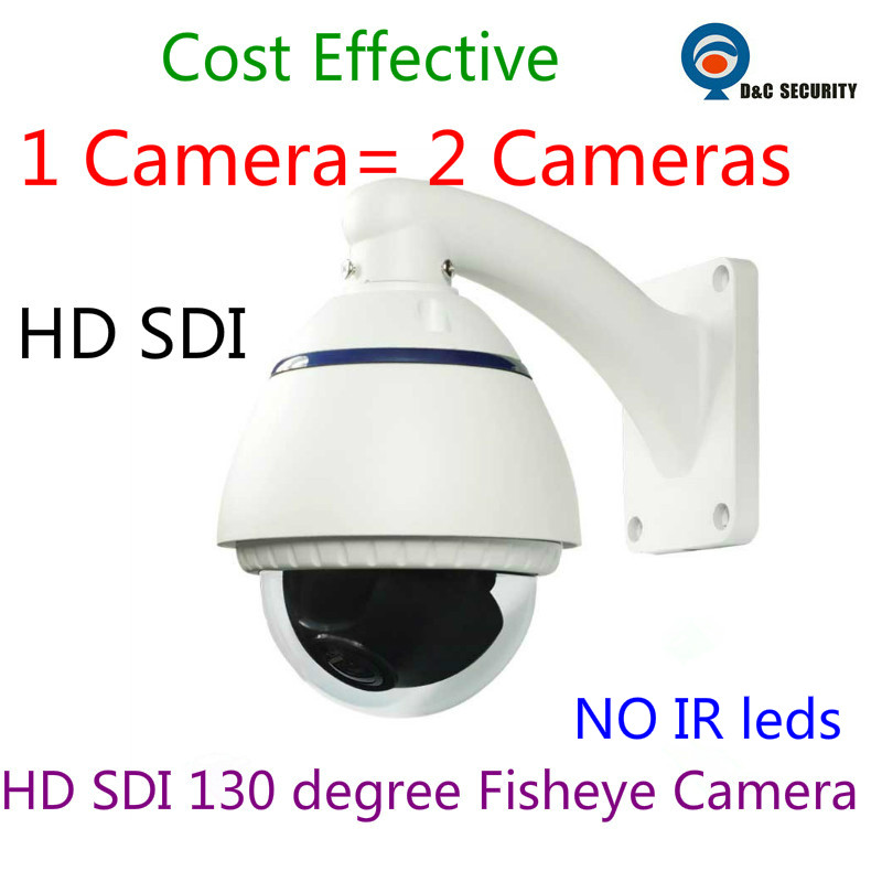 Outdoor Water-proof IP66 2.0 mp 1080P HD SDI 130 degree wide angle Panoramic Fisheye HD SDI Vandal-proof dome camera digital WDR(China (Mainland))