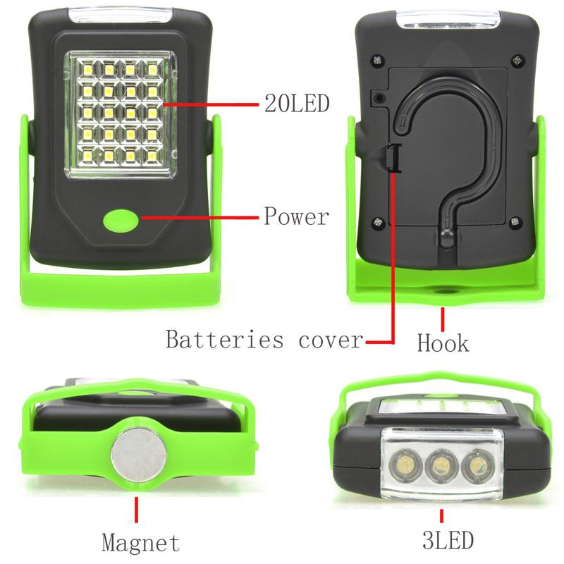LED Night Light Flashlight LED Torch Lantern Work Light 23 Portable LED Lights Camping Bicycle Lamp