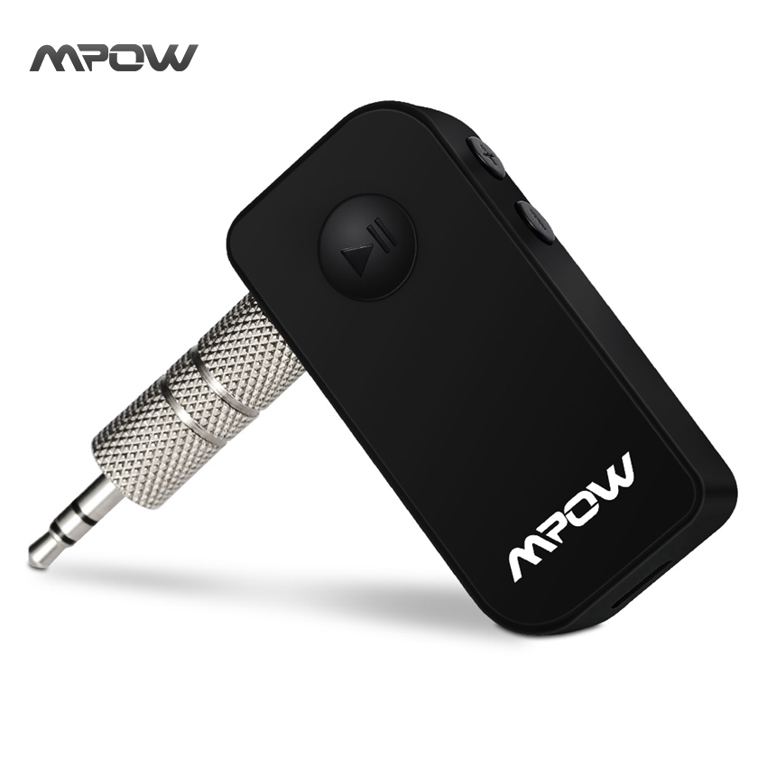 MBR4 Mpow Car-Styling Black Portable Version 3.0 Bluetooth Audio Music Streaming Receiver Adapter Handsfree 3.5mm Stereo Output(China (Mainland))