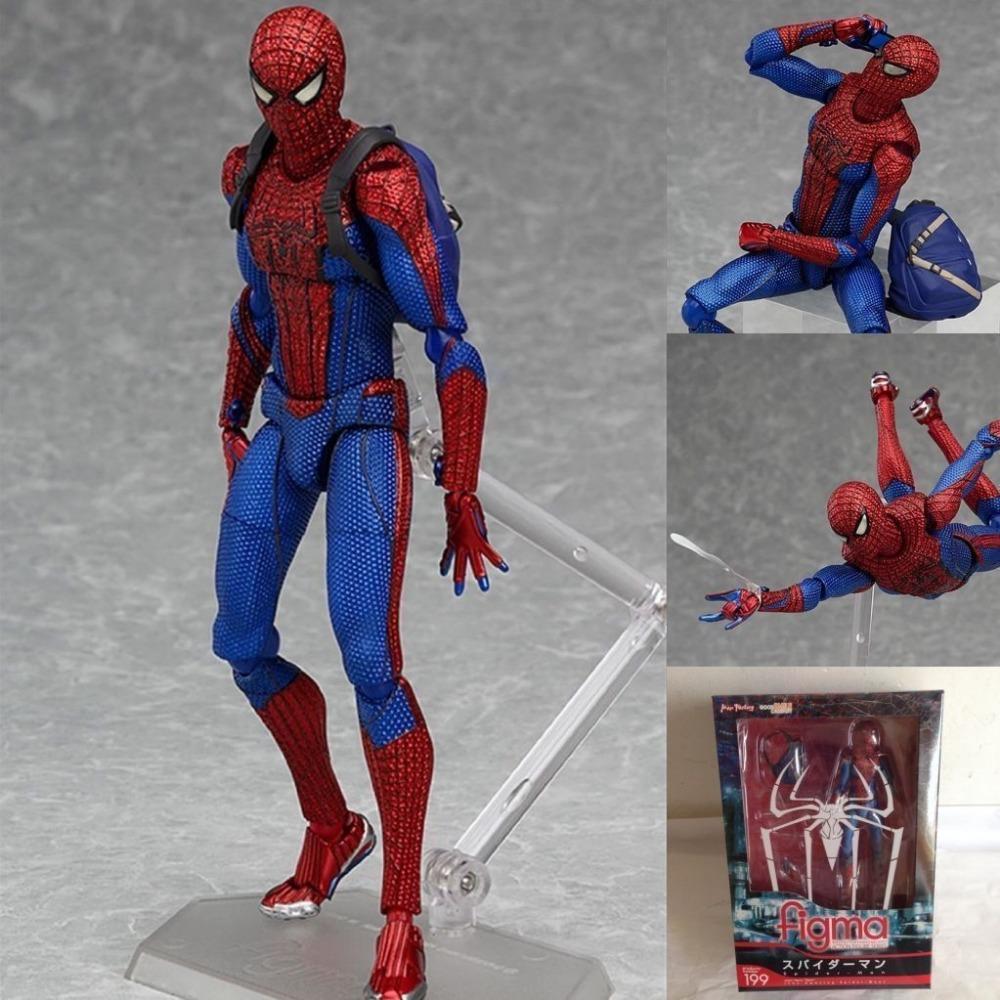 Marvel Legends Diamond Select Figma PVC Spider Man Action Hero Figure(China (Mainland))