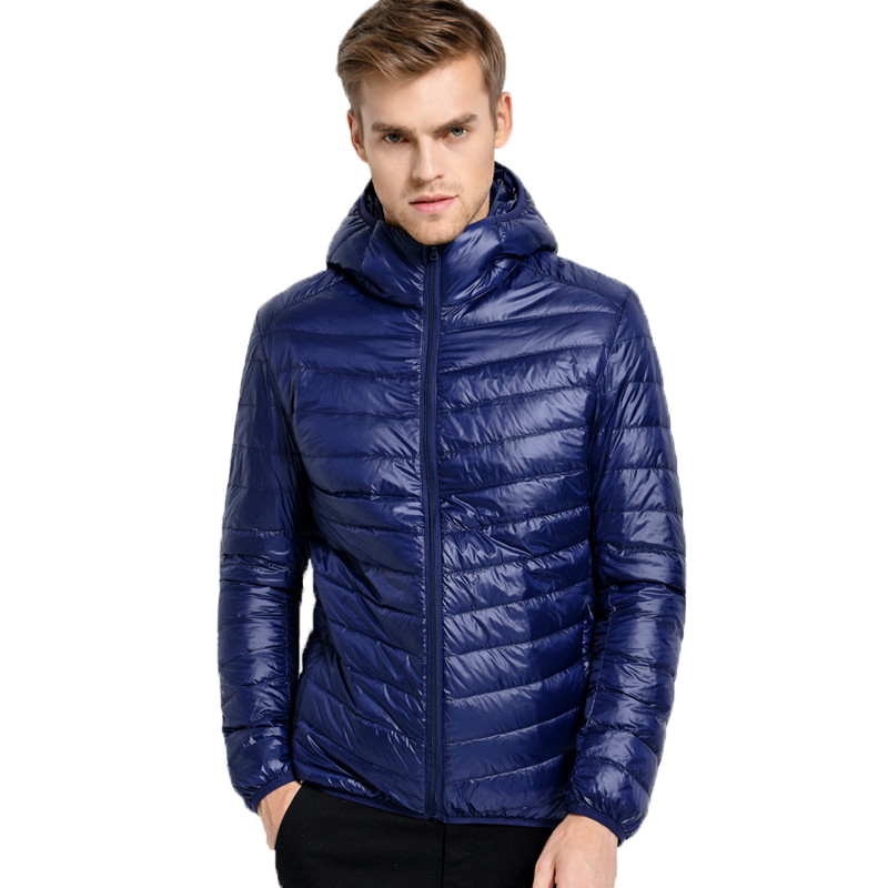 2016 New Winter Down Jacket Men 90 White Duck Down Jacket Ultralight Down Jacket With Hood Outdoor Parka Chaqueta Pluma Hombre(China (Mainland))