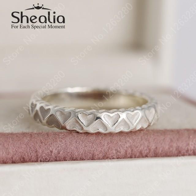 Кольца эмаль обилие любовь к женщинам 2015 зима 925 в форме сердца стерлингового серебра обручальное европейский ювелирных украшений