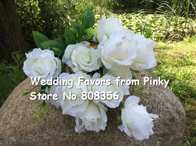 Chinese Roses Spring Flowers 5 Colors For Wedding Bouquet Centerpiece