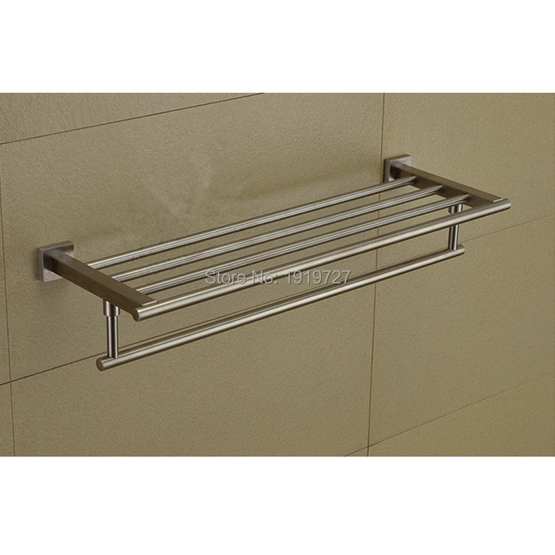 5 Year Guarantee New Material 304 Stainless Steel Double Wall Mounted Bathroom Towel Racks Bathroom Accessories Creative(China (Mainland))