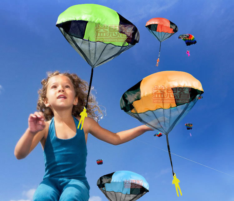 2015 New Sale Red Blue Yellow Kite Surf Kitesurf New free shipping children Parachute Throw And Drop Toys , Outdoor Fun & Sports(China (Mainland))