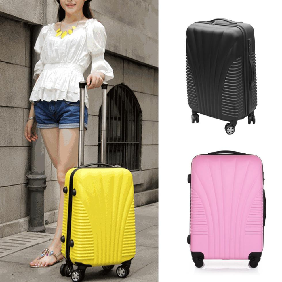 20'' ABS Woman Luggage Travel Bag Rolling Bags Luggages Trolley - LT Milliongadgets Shop store