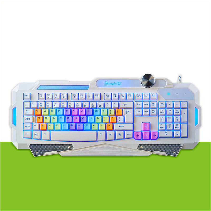 Free Shipping 2015 New 7 Color LED Backlight Game Keyboard Professional Mechanical Computer Gamer Keyboard For Dota 2 LOL(China (Mainland))