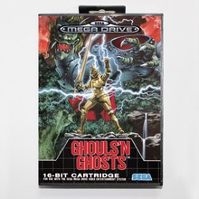 Buy 16 bit Sega MD game Cartridge with Retail box Ghouls 'N Ghosts game card for Megadrive Genesis system for $14.90 in AliExpress store