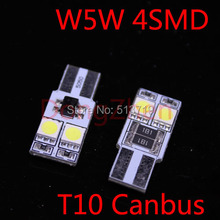 Buy 1X Canbus T10 W5W 4 5050 Car LED Map Dome Festoon Light Canbus NO OBC ERROR Auto LED 5W5 License Plate Light Door Bulb Xenon for $1.32 in AliExpress store