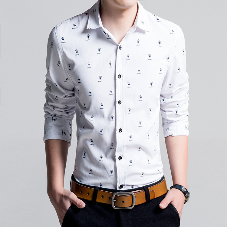 Mens shirt long sleeve brand man 2015 new slim fit men for Mens egyptian cotton dress shirts