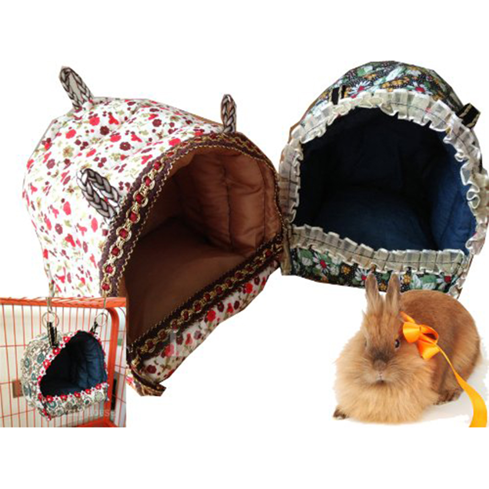 Rabbit /Ferret /Guinea Pig /Parrots /Small Animals Hanging Cave Cage Plush Snuggle Happy Hut Tent Bed Bunk Parrot Toy(China (Mainland))