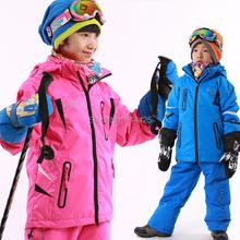 New Breathable Ski Unisex Childen Jacket+ Vest Outdoor Cotton Padded Thicken Winter Warm Snow Coat +Snow Vest 2 Pcs(China (Mainland))
